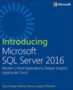 eBook Introducing Microsoft SQL server 2016 - Grátis