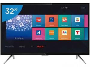 "Smart TV LED 32"" TCL L32S4900S - Conversor Digital Wi-Fi 3 HDMI 2 USB por R$ 997"