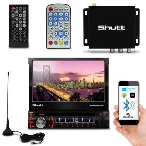 DVD Player Shutt Califórnia BT Bluetooth 7 Pol Retrátil USB MP3 + Receptor TV Digital TV-10 ISDB-T - R$ 539
