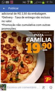 Pizza Família na Parme - R$19,90
