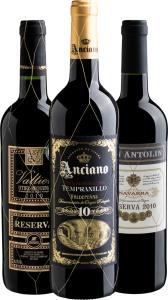 Kit de vinhos Trio Melhor da Espanha na Evino - R$100