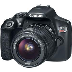"Câmera Digital DSLR Canon EOS Rebel T6 com 18MP, LCD 3.0"", Sensor CMOS, Full HD e Wi-Fi - R$ 1408"