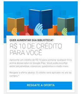 Receba R$ 10 de crédito para comprar um livro no Google Play