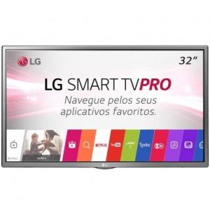 """Smart TV LG LED 32"""" HD 32LJ601C Prata"""