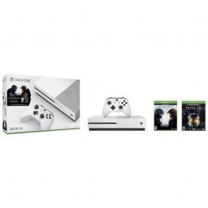 Console Microsoft Xbox One S 500GB + Jogo Halo/Halo 5 Branco - R$ 1291