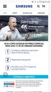 Promoção 4K de verdade é Samsung