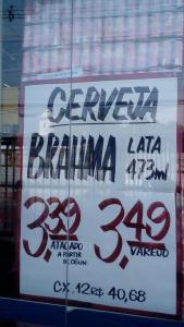 ((Loja Fisica RJ : Supermercados Assai)) Cerveja Brahma lata 373ml