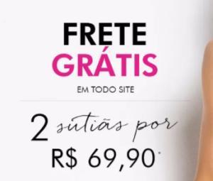 2 sutiãs Loungerie por R$69,90 + frete grátis