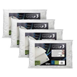 [Visa Checkout] 4 Travesseiros Fibrasca Nasa UP3 Visco 50x70 cm - R$59,90