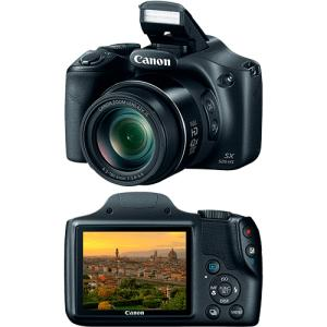 Câmera Digital Semiprofissional Canon SX520HS 16MP Zoom óptico 42x por R$ 855