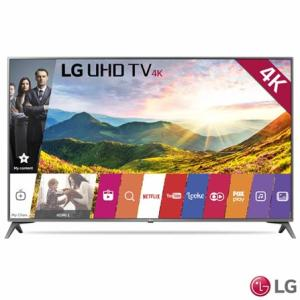 "Smart TV LED 43"" LG Ultra HD 4K Sistema WebOS 3.5 Wi-Fi Painel IPS HDR 43UJ6565 por R$ 1709"
