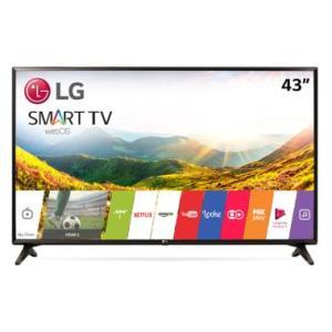 """Smart TV LED 43"""" LG Full HD 43LJ5550 Wi-Fi Painel IPS por R$"""