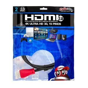 CABO HDMI 2.0 2 Metros Premium ULTRA HD 3D - Cirilo Cabos - R$9