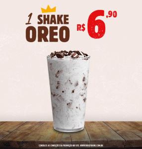 Shake Oreo no Burger King - R$6,90