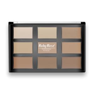 Paleta Ruby Rose Makeup Pó Facial - R$35,37