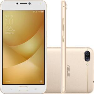 "Smartphone Asus Zenfone 4 Max Dual Chip Android 7 Tela 5.5"" Snapdragon 16GB 4G Wi-Fi Câmera Dual Traseira 13 + 5MP Frontal 8MP - Dourado. R$ 759,99"