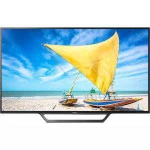 """Smart TV LED 40"""" Sony KDL-40W655D Full HD com Conversor Digital 2 HDMI 2 USB Wi-Fi Foto Sharing Plus Miracast Preta"""