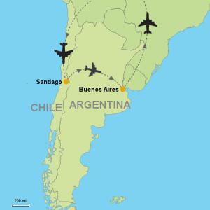 Voos: Buenos Aires + Santiago, a partir de R$1.115 ida e volta, com todas as taxas incluídas!