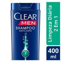 Shampoo Clear Anticaspa Leve 3 Pague 2: 400ml por R$ 13,33 e 200ml por R$ 8,66 cada unidade