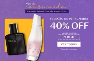 Seleção de perfumaria com 40% de desconto na Natura
