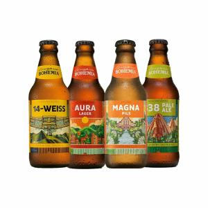 Kit Bohemia 14 Weiss, Magna Pils, 838 Pale Ale e Aura Lager 300ml - 1 unidade de cada - R$27,60