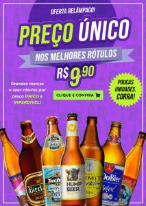 Preço Unico em diversos Rótulos de Cervejas Artesanais por 1
