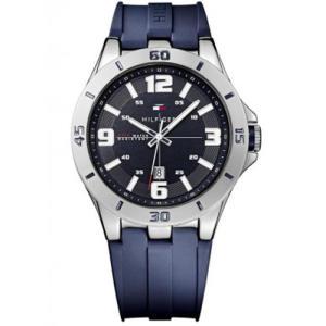 Relógio tommy hilfiger masculino borracha azul - 1791062 - R$412