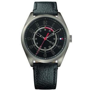 Relógio tommy hilfiger masculino couro preto - 1791374 - R$442