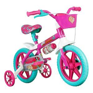 Bicicleta Infantil Aro 12 Caloi Barbie Rosa - R$199,90