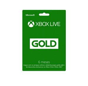 XBOX MICROSOFT LIVE GOLD 6 MESES