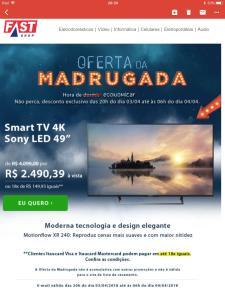 "Smart TV 4K Sony LED 49"", 4K HDR, 4K X-Reality Pro, Dolby Digital Plus e Wi-Fi - KD-49X705E - SOKD49X705PTO"