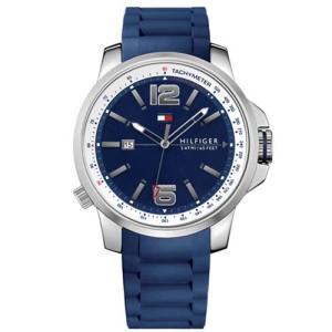 Relógio tommy hilfiger masculino borracha azul - 1791220 - R$440
