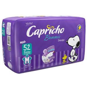 Fralda Capricho Snoopy Mega M - 52 Unidades  Por: R$ 27,12