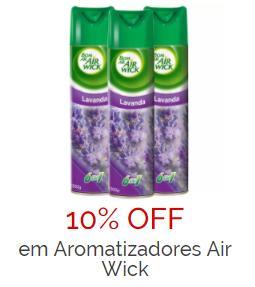 10% OFF em aromatizadores Air Wick