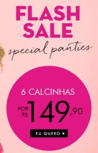 6 calcinhas Loungerie por R$149,90 + frete grátis