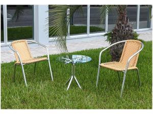 Conjunto de Mesa para Jardim com 2 Cadeiras - Alegro Móveis CJMC12099.0001 - R$342