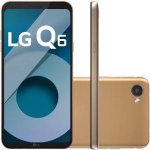 "Smartphone LG Q6 LGM700TV Rose Gold 32GB 5,5"" Dual Chip 13MP Octa Core 3GB RAM - R$710"