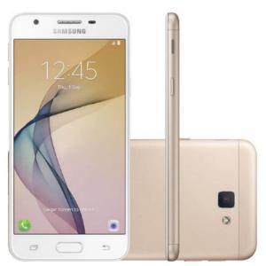"""Smartphone Samsung Galaxy J5 Prime Dourado G570M Dual Chip 32GB Tela 5"""" 4G Câmera 13MP Quad Core 1.4 - R$599,90"""