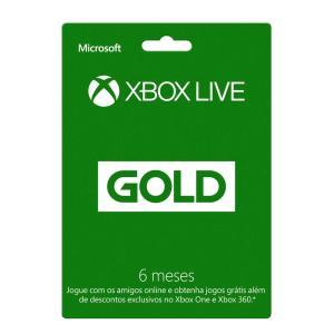 Xbox Live Gold - 6 Meses - R$57