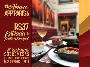 Almoço Paris 6: Entrada + Prato Principal - R$37