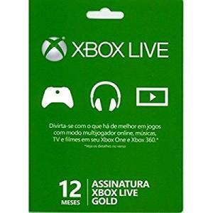 [Marketplace] Microsoft Xbox Live Gold - 12 Meses - R$109,90
