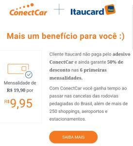 Cliente Itaucard não paga peloadesivo ConectCare ainda garante50% de descontonas6 primeiras mensalidades.