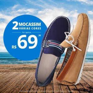 Compre 2 Mocassim (Diversas Cores ) por R$ 69,90
