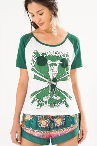 T-Shirt Raglan Zé Carioca Farm - R$49