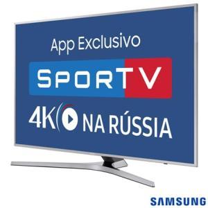 "Smart TV 4K Samsung LED 55"" com Smart Tizen e Wi-Fi - UN55MU6400GXZD"