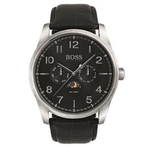 Relógio hugo boss masculino couro preto - 1513467 - R$630