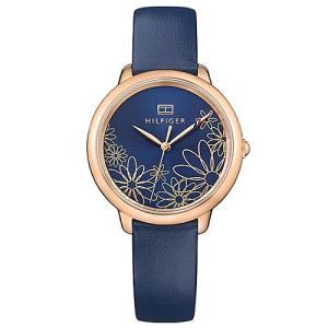 Relógio tommy hilfiger feminino couro azul - 1781783 - R$385