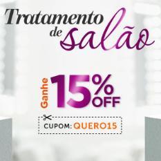 15% OFF em produtos selecionados para cabelo