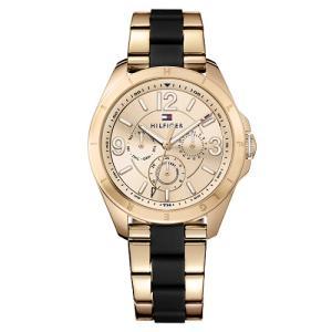 Relógio Tommy Hilfiger Femino Aço Rosé e Borracha Preta - R$375