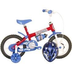 Bicicleta Infantil Aro 12 Track Bikes Kit Kat Boys Azul e Vermelha - R$ 139,90